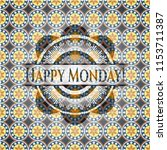 happy monday  arabic emblem.... | Shutterstock .eps vector #1153711387