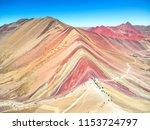 vinicunca  also called monta a... | Shutterstock . vector #1153724797