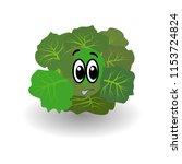 cartoon vegetable   broccoli ... | Shutterstock .eps vector #1153724824