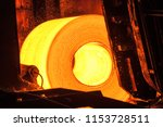 roll of hot metal on the... | Shutterstock . vector #1153728511