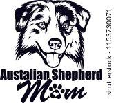 australian shepherd dog breed... | Shutterstock .eps vector #1153730071