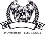 chinese crested dog breed love... | Shutterstock .eps vector #1153732231