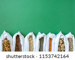 cotton bags with variety of... | Shutterstock . vector #1153742164