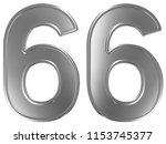 numeral 66  sixty six  isolated ... | Shutterstock . vector #1153745377