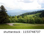 beautiful green forest at the... | Shutterstock . vector #1153748737