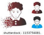 vector brunette woman icon in... | Shutterstock .eps vector #1153756081