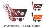 vector medication shopping cart ... | Shutterstock .eps vector #1153756084