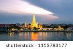 beautiful sunset wat arun... | Shutterstock . vector #1153783177