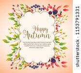 happy autumn season plant cloud ... | Shutterstock .eps vector #1153791331