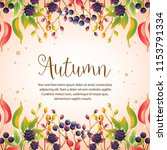 happy autumn colorful leaves... | Shutterstock .eps vector #1153791334