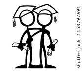 stick figure qualification... | Shutterstock .eps vector #1153797691