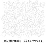 white background with baby gear ... | Shutterstock .eps vector #1153799161