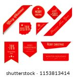 christmas label and christmas... | Shutterstock .eps vector #1153813414