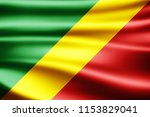 congo republic flag of silk 3d... | Shutterstock . vector #1153829041