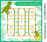 mathematical riddle. count game ... | Shutterstock .eps vector #1153831804