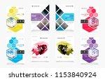 set of design of brochure ... | Shutterstock .eps vector #1153840924