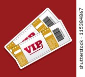 pair of vip tickets | Shutterstock .eps vector #115384867