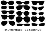 sun glasses set isolated on... | Shutterstock .eps vector #115385479