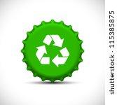 green bottle tops | Shutterstock .eps vector #115385875