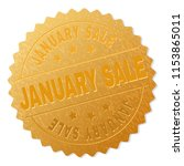 january sale gold stamp award.... | Shutterstock .eps vector #1153865011