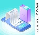 the online bill purchase.... | Shutterstock .eps vector #1153865404