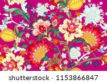 seamless pattern with stylized... | Shutterstock .eps vector #1153866847