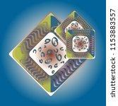 doodle bisquit cookie or... | Shutterstock .eps vector #1153883557