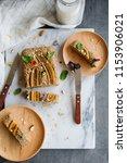 homemade breakfast or tea... | Shutterstock . vector #1153906021