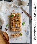 homemade breakfast or tea... | Shutterstock . vector #1153906024