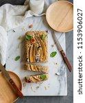 homemade breakfast or tea... | Shutterstock . vector #1153906027