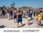pompei  italy   august 1  2018  ... | Shutterstock . vector #1153908757