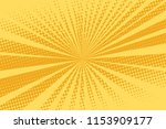 pop art yellow background ... | Shutterstock .eps vector #1153909177