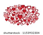 hearts and valentine's day... | Shutterstock .eps vector #1153932304