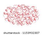 hearts and valentine's day... | Shutterstock .eps vector #1153932307