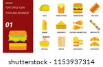 flat icon pack for food and... | Shutterstock .eps vector #1153937314