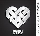 heart knot 3d metal symbol | Shutterstock .eps vector #1153956031