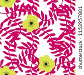 bright seamless pattern with... | Shutterstock .eps vector #1153957801
