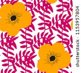 bright seamless pattern with... | Shutterstock .eps vector #1153957804