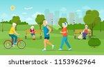 the elderly man and the elderly ... | Shutterstock .eps vector #1153962964