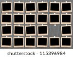 antique picture frame on the... | Shutterstock . vector #115396984