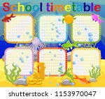 school timetable with marine... | Shutterstock .eps vector #1153970047
