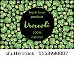 vector illustration of broccoli ... | Shutterstock .eps vector #1153980007