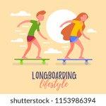vector summer illustration of... | Shutterstock .eps vector #1153986394