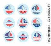 cartoon stickers with colored...   Shutterstock .eps vector #1154000254