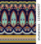 seamless border with paisley ... | Shutterstock .eps vector #1154005957