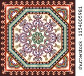 contrast  bandanna with paisley ... | Shutterstock .eps vector #1154005981