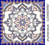 ornate bandanna with  paisley ... | Shutterstock .eps vector #1154005987