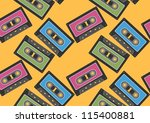 audio tape seamless background   Shutterstock .eps vector #115400881