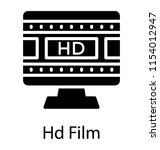 a screen showing movie clip... | Shutterstock .eps vector #1154012947