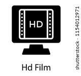 a screen with the film reel... | Shutterstock .eps vector #1154012971